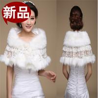 Wholesale New Faux Fur Bridal Shrug Wrap Cape Stole Shawl Bolero Jacket Coat Perfect For Winter Wedding Bride Bridesmaid Real Image006