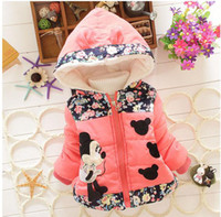 Wholesale New Spring Winter Children Minnie Hoodies Jacket Coat Baby Girls Clothes Kids Toddle Outerwear Warm Coat Age T