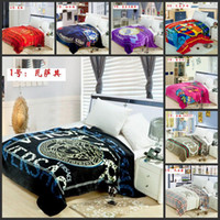 flannel sheets - The new luxury brand blankets big letters thickened sheets flannel blanket lunch blanket coral velvet sofa blanket