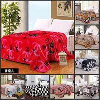 flannel sheets - 2015 new luxury brand blanket big gold mink cashmere blankets Cashmere flannel sheets blanket leisure blanket CM