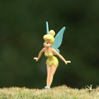resin figure - Hight Quality Cartoon Cute mini Resin toys Tinkerbell Fairy Adorable Tinker Bell Action Figures Retail Dolls Gift For Children