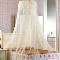 Cheap Free Shipping Round Dome Mosquito Net Double King Size Bed Canopy for Holiday and Home
