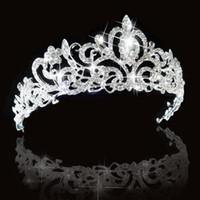 Cheap Bridal Princess Austrian Stunning Crystal Hair Tiara Wedding Crown Veil Headband