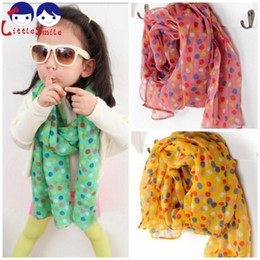 Wholesale Cheap Children Scarfs - Wholesale-Hot Sell 2015 Winter Dot Scarf Candy Color Children Scarves Bufanda Girls Boys Cotton Scarf 160*50 cm Cheap Wholesale and Retail