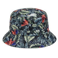 Wholesale New Style Animal Leaves Floral Bucket Hat Men Women Outdoor Hiking Fishing Sun Cap Beach Bucket Hats Beanie Top Quality Goldtop