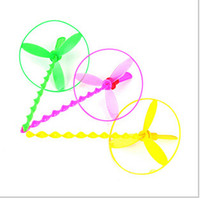 bamboo helicopter - Round Helicopter Plastic Bamboo Dragonfly Traditional Educational Toy Small Gifts for Children Random Delivery