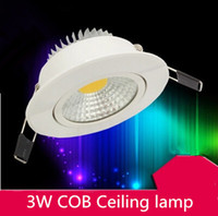 Wholesale w LED COB chip downlight Recessed LED Ceiling light Spot Light Lamp Dimmable led lamp epistar