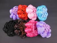 ballet hair accessories - Bun Cover Snood Hair Net Ballet Dance Skating Crochet Color For Choose Hair Accessory