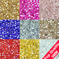 bead bracelet supplies - TOP quality mm AAA Bicone Upscale Austrian crystals beads loose ball supply AB color plating bracelet Jewelry Making DIY