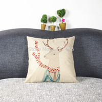 Cheap Wholesale-HOT 2015 new high quality bed linen cushion sofa cushions and pillows manufacturers custom scarf deer