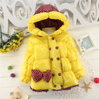 Wholesale Hot Fashion Bow jacket winter jackets for girls winter coat children Outerwear amp Coats kids Jackets amp Coats baby
