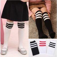 baby candy bars - Girl Autumn Warm Korean Candy Bar Socks Kids Children s knee BOOT high socks Striped baby cotton socks meias