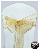 best chairs fabrics - gold organza sash chair sash satin sash popular gold color best wedding decorations chair sashes