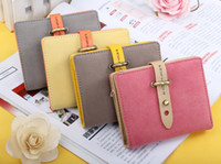 belt with money zipper - Fashion Cute Napping Leather Women Wallet Woman Designer Wallets Belt Purse with Credit Card Coin Money Change Wallets B26