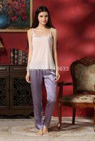 amethyst house - Silk Women Sleep Bottoms Loungewear House Garments Home wear Amethyst blue grey white black S M L XL