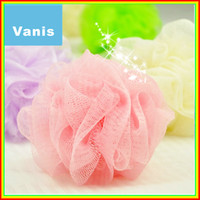 Wholesale Multicolor Senior Supper Soft Bath Ball Body Brush Bathsite Wash Flower Cleaning for Baby Kid Shower Sponge Puff