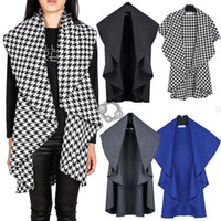 argyle scarf - H Unique Design Womens Capes and Ponchoes Winter Wool Coat Ladies Elegant Cape Shawl Poncho Wrap Scarves Coat