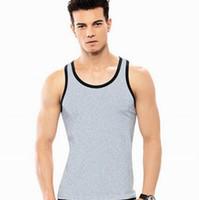 Wholesale Mens Vest Gym Undershirt Top Wear Basebal Tank Tops Coat Up Sport Sexy Sleeveless Bodybuilding Vest