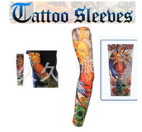 Wholesale Fashion New Tattoo Sleeves arm warmer Arm Cover Stockings Skull for biker Cycle skateboard CS Game Outdoor Bicycle