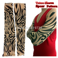 animal ski gloves - Personal Radiation Protection Long Arm Leg Tattoo Sleeve Riding Fishing Skiing Cuff Christmas Halloween Decoration Spear
