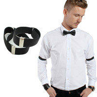 arm band shirt - pair Retail new men Shirt Sleeve Holder adjustable new Arm Bands Garter Elasticated male accessories
