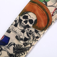 basketball beauty - Cool Skull Beauty Buddha Printed Tattoo Sleeve Arm Warmers Men Stretch Costume Arm Stockings Sport Basketball Armband