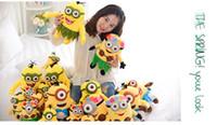Wholesale 3D Despicable ME cm Plush Toy Minion Jorge Stewart Dave Minions plush Doll Hawaii Hula