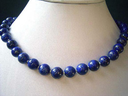 10 mm Egyptian Lapis Lazuli Necklace 18inch