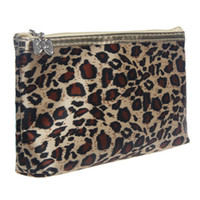 amazing cosmetics - New Amazing Potable Women Makeup Organizer Leopard Cosmetic Bags With Mirror Storage Travel Bags