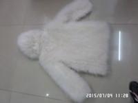 Wholesale Ostrich hair long sleeve hood fur clothing