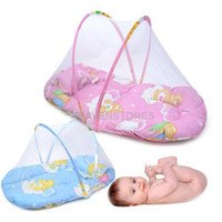 Wholesale Small Size Hot Sale New Infants Portable Baby Bed Crib Folding Mosquito Net Infant Cushion Mattress