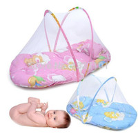 baby bed mosquito net - Portable Baby Bed Crib Folding Mosquito Net Infant Cushion Mattress Pillow PTCT