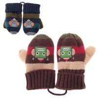 Wholesale Baby Kids Children Toddler Mittens Gloves Knitted Winter Warm Boy Coffee Blue Cute Gift