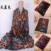 bali leopard - New Arrival Summer amp Winter Fashion Scarves Heart Leopard Printing Long Chiffon Bali Yarn Scarf TH S17