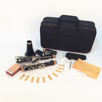 Wholesale Key Bb Flat Soprano Clarinet Nickel Plating Exquisite with Cork Grease Cleaning Cloth Gloves Durable Musical Instruments