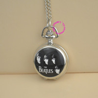 beatles antique - vine silver necklace BEATLES pocket watch for men and women and children classic gift