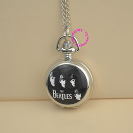 Wholesale vine silver necklace BEATLES pocket watch for men and women and children classic gift