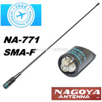 Wholesale Nagoya NA Dual Wide Band VHF UHF MHz Handheld Radio SMA F Female Soft Antenna NA771 For Baofeng UV R Series Radio