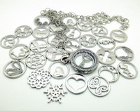 Wholesale mixed plate accessories window charms mm for mm glass living memory lockets