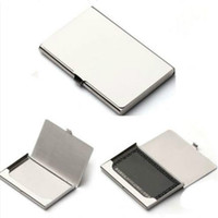 Wholesale Stainless Steel Silver Plated Aluminium Business ID Credit Card Holder Pocket Box Case