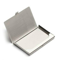 Wholesale Stainless Steel Box Business ID Credit Card Case Metal Fine Box Holder Pocket Box