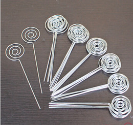 Wholesale-lot 50pcs DIY ring loop circle shape craft wire picture&memo&note&photo&card holder clips,wholesale clay&cake