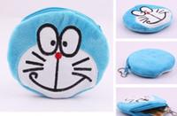 Wholesale Kawaii CM Doraemon HAND Plush Coin Purse Wallet Pouch Case BAG Women Lady Bags Pouch Makeup Case Holder BAG Handbag