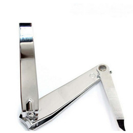 Wholesale pc New Arrival Professional Big Nail Clipper With Nail File Stainless Steel Nail Tools Toe Finger Trimmer