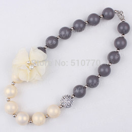 2017 colliers de perles / Lot2015 arrivée de nouveaux-2PCS gros perles LadyStyle chunky expédition Collier balle collier de forme de gomme à bulles petite fille gratuit abordable colliers de perles
