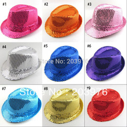 Wholesale-$3.4 pcs fashion men hiphop party men Fedoras hat Sequins jazz hats Performance hat Free shipping to most countries