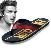 Wholesale New Beckham summer fashion brand fashion rubber wear resistant Men flip flops shoes beach slippers Size high quality