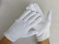 gloves - White Cotton Gloves Serving Waiters Gloves Concierge Butler Snooker Equestrian Gloves pairs