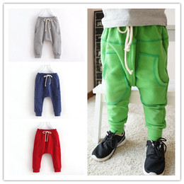Wholesale boys harem pants kids cotton trousers baby boy candy color children spring kids harem pants leisure kids joggers pants
