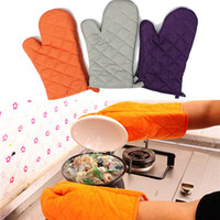 best oven gloves - Best Price Pair Kitchen Heat Resistant Cotton Glove Oven Pot Holder Baking Cooking Mitts Microwave Colors Orange Grey Purple